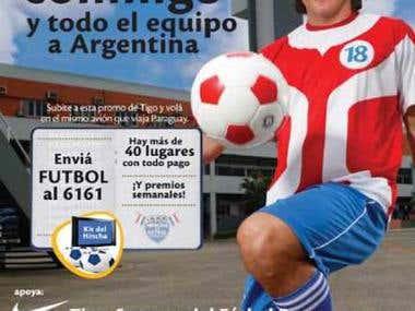 tigo campaign for paraguay futball seletion