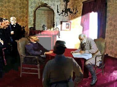 Lee's surrender to Ulysses S Grant
