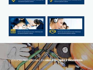 Sitio web de servicios en contruccion