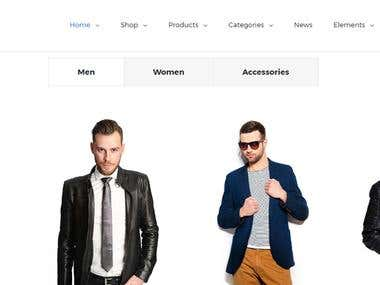 Online store build in wordpress