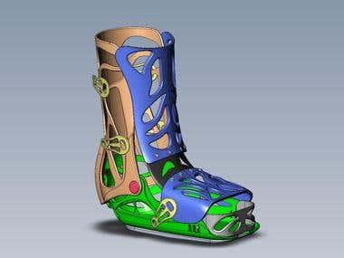 Inflatable medical orthopedic shoes