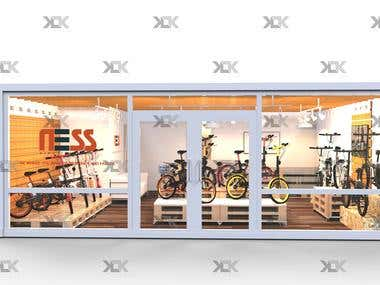 NESS BIKE STORE INTERIOR DESIGN - 2017