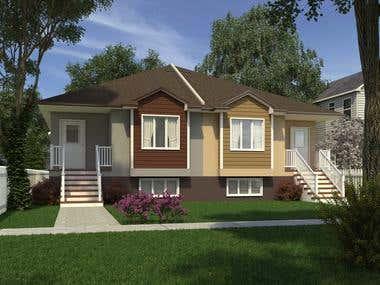 Bungalow Duplex Design
