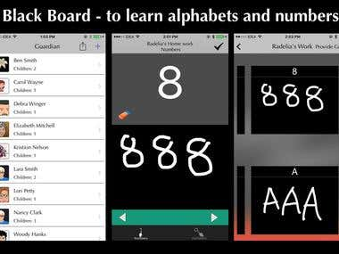 Black Board - to learn alphabets and numbers