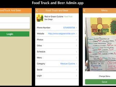 Food Truck and Beer Admin