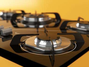Cooktop modeling