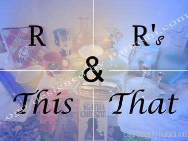 Logo design for R and R This and That