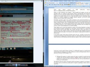 Proofread, edit and rewrite an article to pass turnitin