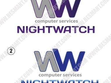 Logo Night Watch, business card, flyers.