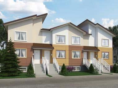 Duplex Exterior Rendering for Arjom Design Tech