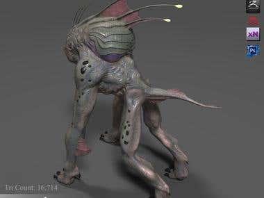 Zerba - Video Game Creature Model