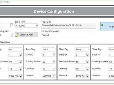 Multiple Flow meter Monitoring and Logging Software