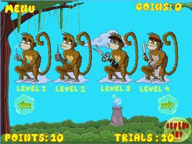 Monkey Bubble - Children Memory Game