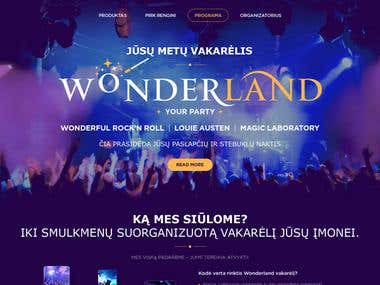 Wordpress theme 'Wonderland'