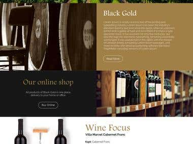 Black Sea Gold Website Design