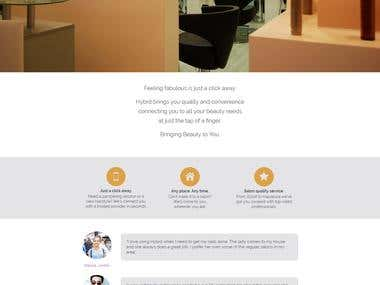 London based Salon Appointment Booking System - www.hybrd.me