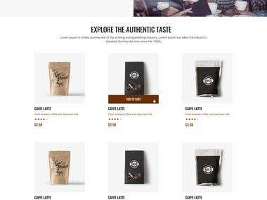 Coffee Shop Website Design