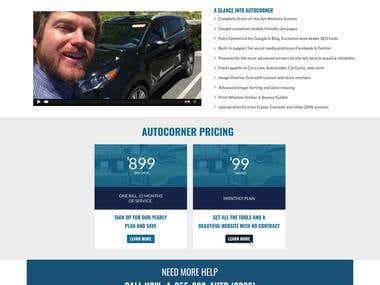 AutoCorner website Design