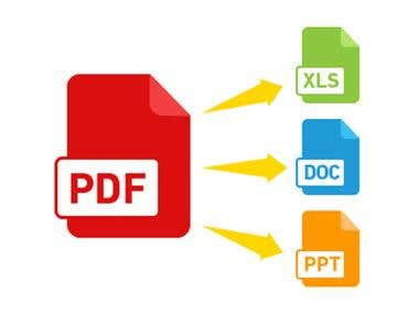 Convert Pdf or word To Excel