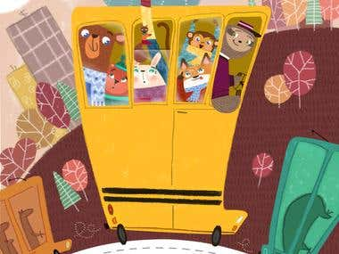 IL BRONCIOSAURO - CHILDRE'S ILLUSTRATION BOOK