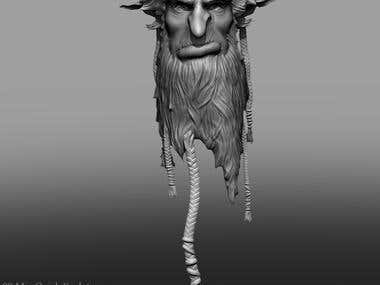 Forest Troll Zbrush Head Sculpt