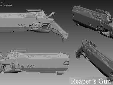 Overwatch Reaper Character - WIP