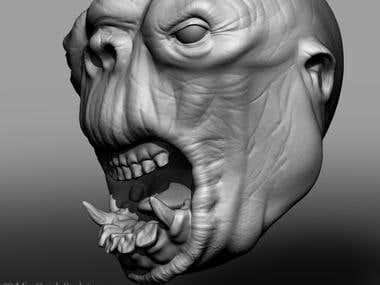 Troll Head ZBrush Sculpt