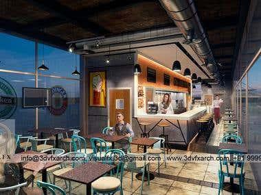 Interior 3D Bar Rendering