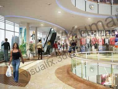 Ranchi Mall Interior 3D Rendering