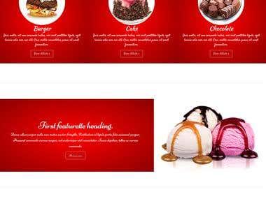 Website for Fast-food Restaurant