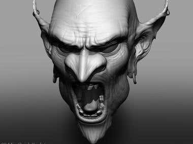 Goblin Head ZBrush Sulpt