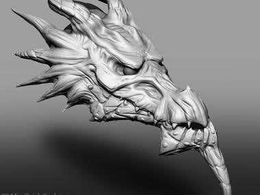 Dragon Head ZBrush Sculpt