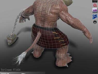 Minotaur Video Game Creature