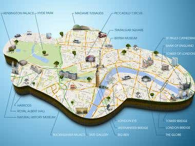 3D map of London