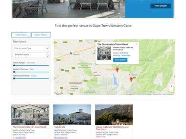 Venue Booking Website - www.myvenues.co.za/