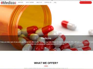 iMedicoz : Medical website landing page