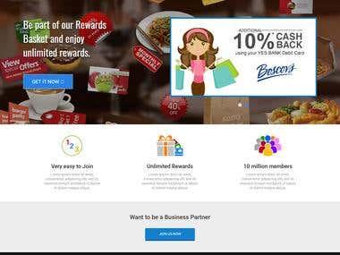 Reward Point Collecting website - www.rewards-basket.com