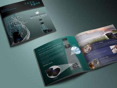 Brochure design for natural beverage company