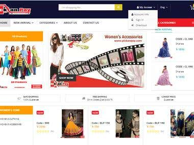 eCommerce site Design & Develop