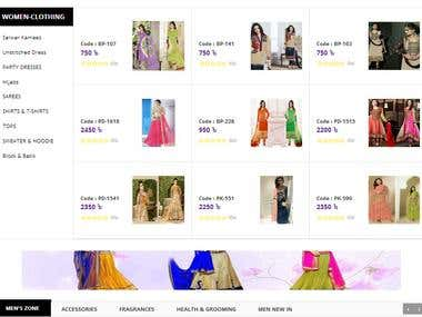 eCommerce Site Deign & Develop
