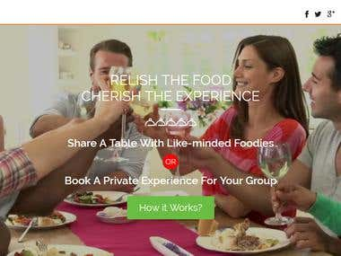 Online food event hosting website
