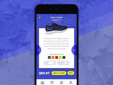Nike - Check Out Shop Mobile User Interface Concept