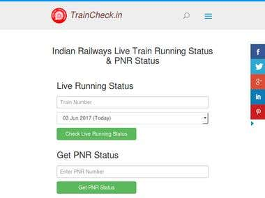 Indian Railways Live Train Running Status