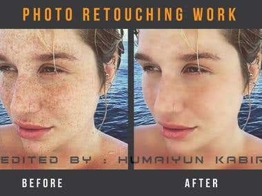 Photo Retouching work