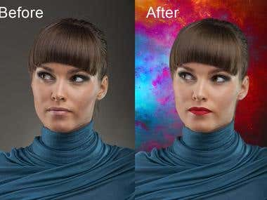Background Remove and Face retouch