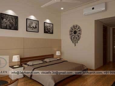 Bedroom 3D Interior Rendering