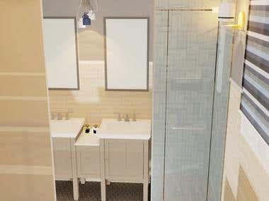 3D renders of Bathroom