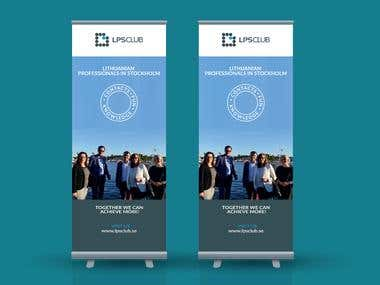 Vertical Banner and Logo