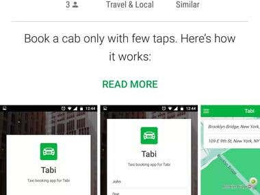 Tabi Ride - Customer Application
