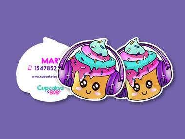 Kawaii Style Logo And Business Cards